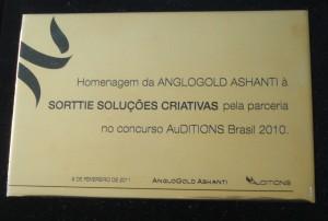 Placa Homenagem Anglogold 2011