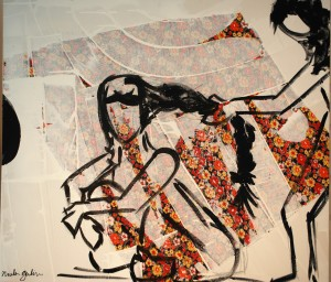 Nicole Gulin expõe sua obras no Clube Curitibano