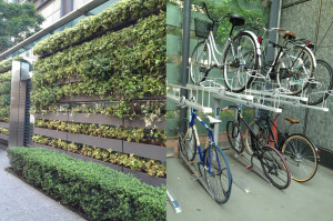 bicicletário verde 2 em 1