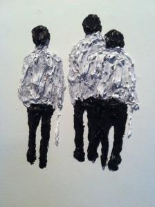 Óleo sobre parede sem título (artista: Clemens Krauss)