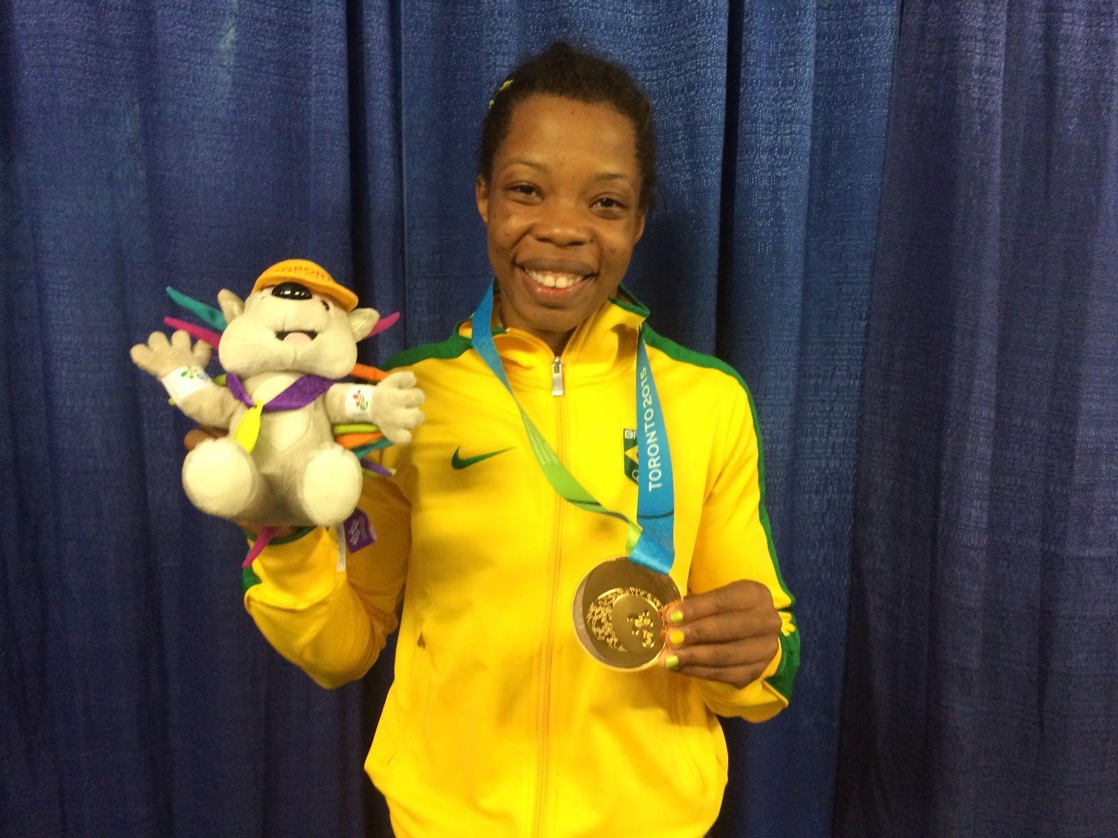 Joice Silva, medalha de ouro no wrestling (categoria 58kg) nos Jogos Pan-Americanos Toronto 2015